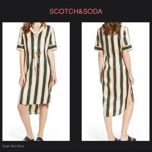 SCOTCH & SODA Stripe Shirt Dress